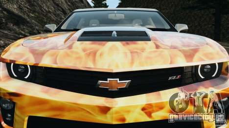 Chevrolet Camaro ZL1 2012 v1.0 Flames для GTA 4 колёса