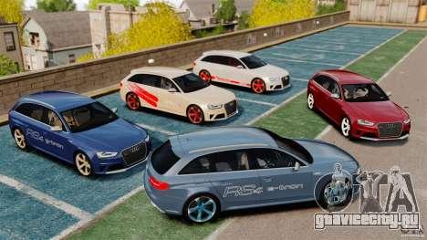 Audi RS4 Avant 2013 для GTA 4 вид справа