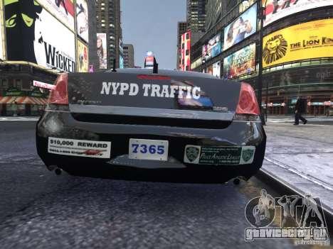 Chevrolet Impala 2006 NYPD Traffic для GTA 4 вид справа