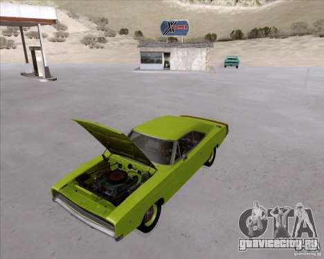 Dodge Charger RT 440 1968 для GTA San Andreas вид сзади