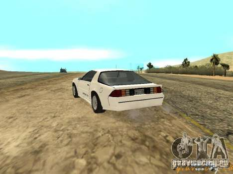 Chevrolet Camaro IROC-Z 1989 для GTA San Andreas вид сбоку
