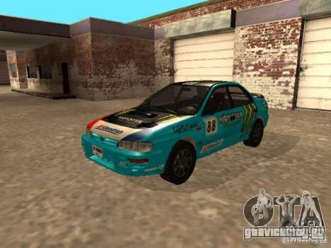 Subaru Impreza WRX STI 1995 для GTA San Andreas вид снизу