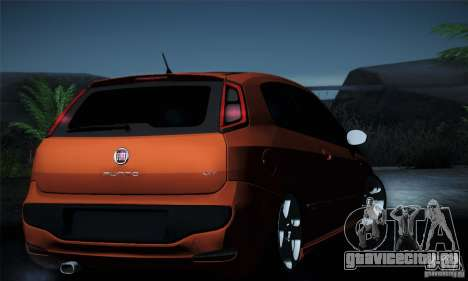 Fiat Punto Evo 2010 Edit для GTA San Andreas салон