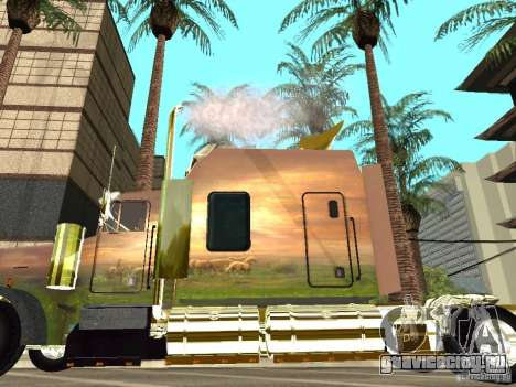 Kenworth W900 для GTA San Andreas вид сзади слева