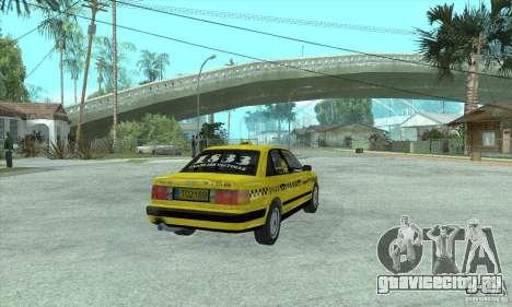 Audi 100 C4 (Taxi) для GTA San Andreas вид сзади слева