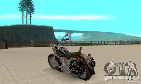 Harley Davidson FLSTF (Fat Boy) v2.0 Skin 5 для GTA San Andreas вид сзади слева