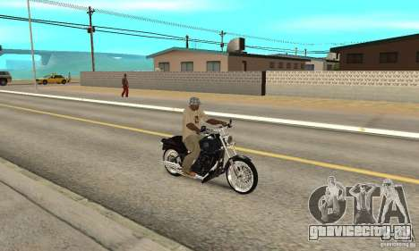 Harley Davidson FXSTBi Night Train для GTA San Andreas вид справа