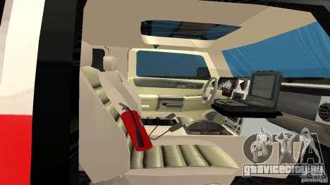 HUMMER H2 Amulance для GTA San Andreas вид сзади