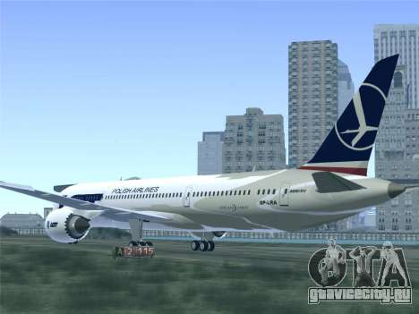 Boeing 787-9 LOT Polish Airlines для GTA San Andreas колёса