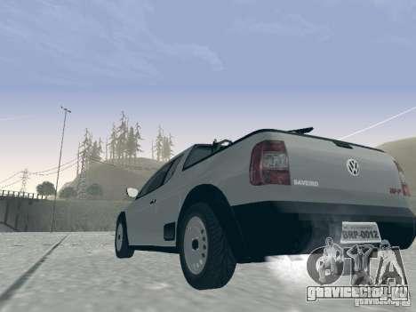 Volkswagen Saveiro 1.6 2009 для GTA San Andreas вид сзади