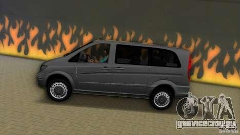 Mercedes-Benz Vito 2007 для GTA Vice City вид справа