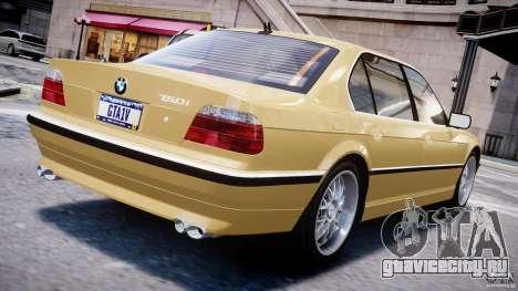 BMW 750i v1.5 для GTA 4 вид сзади слева