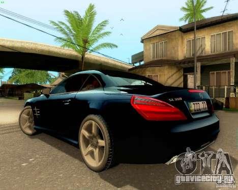 Mercedes-Benz SL350 2013 для GTA San Andreas вид снизу