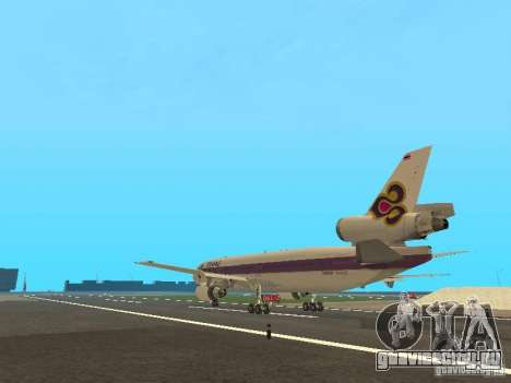 McDonell Douglas  DC 10 Thai Airways для GTA San Andreas вид сзади слева