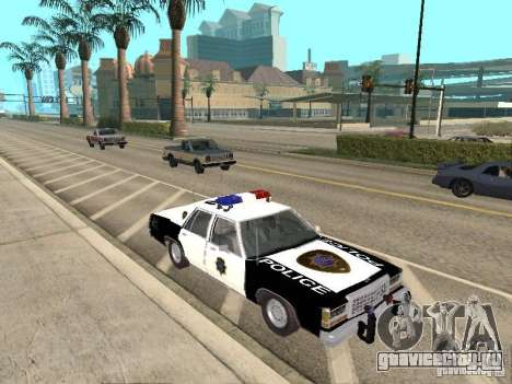 Ford LTD Crown Victoria Interceptor LAPD 1985 для GTA San Andreas вид сзади