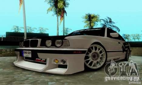 BMW E34 540i Tunable для GTA San Andreas вид изнутри