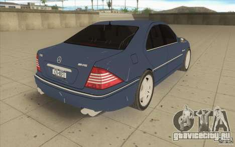 Mercedes-Benz S-Klasse для GTA San Andreas вид сбоку