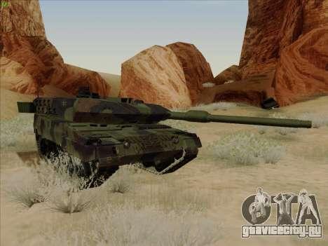 Leopard 2A6 для GTA San Andreas вид изнутри