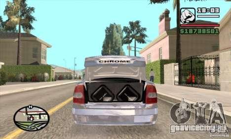 ВАЗ 2170 Chrome для GTA San Andreas вид сзади слева