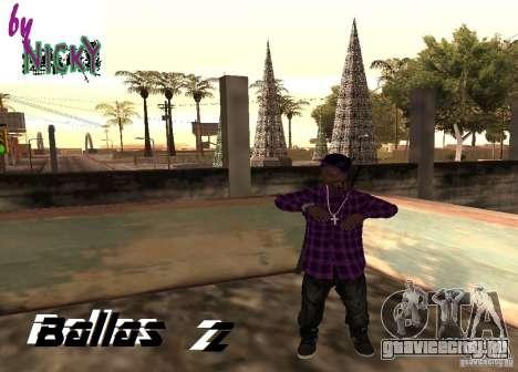 Пак скинов Ballas для GTA San Andreas второй скриншот