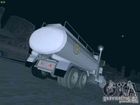 Kenworth Petrol Tanker для GTA San Andreas вид сзади слева