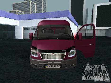ГАЗ 2217 Соболь для GTA San Andreas вид сзади слева