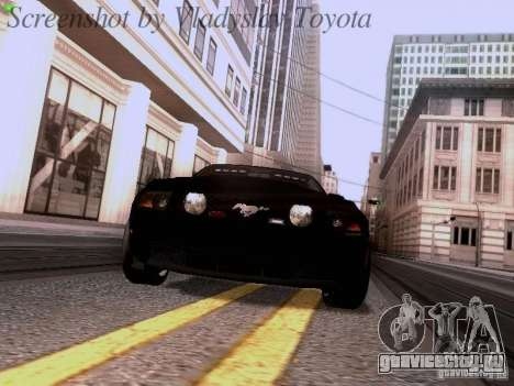 Ford Mustang GT 2011 Unmarked для GTA San Andreas вид сзади
