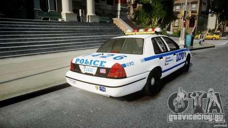 Ford Crown Victoria CVPI-V2.5V для GTA 4 вид сзади слева