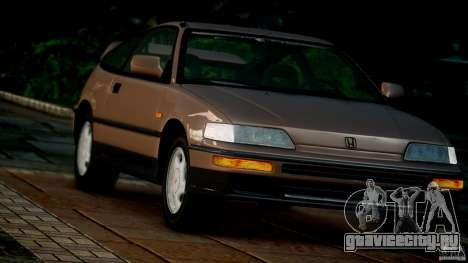 Honda CR-X SiR 1991 для GTA 4 вид сзади