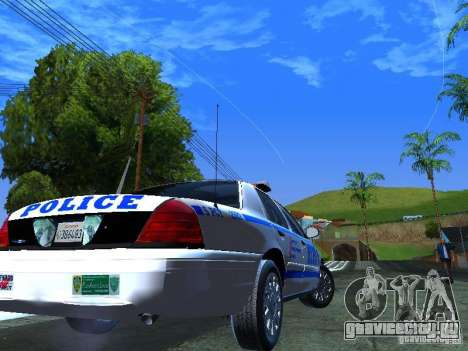 Ford Crown Victoria 2009 New York Police для GTA San Andreas вид сзади слева