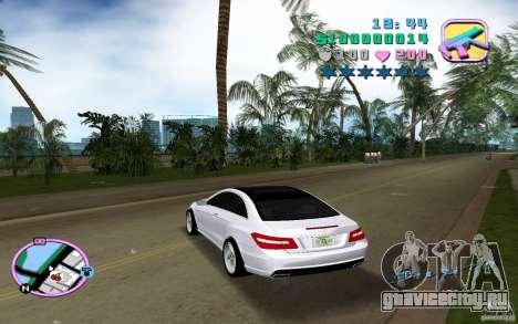 Mercedes-Benz E Class Coupe C207 для GTA Vice City вид сзади слева