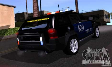 NFS Undercover Police SUV для GTA San Andreas вид сбоку