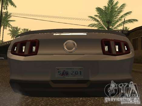 Ford Mustang 2011 GT для GTA San Andreas вид справа