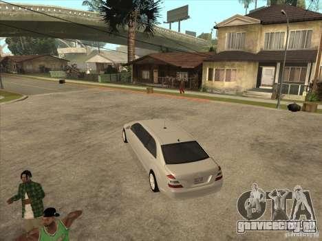 Mercedes-Benz Pullman (w221) SE для GTA San Andreas вид справа