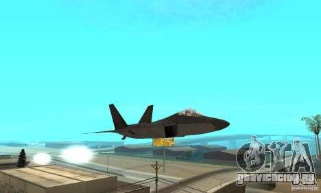 F-22 Black для GTA San Andreas вид сбоку