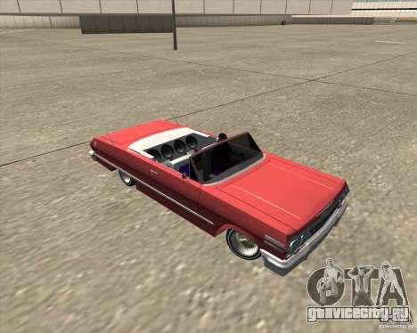 Chevrolet Impala 1963 lowrider для GTA San Andreas вид сверху