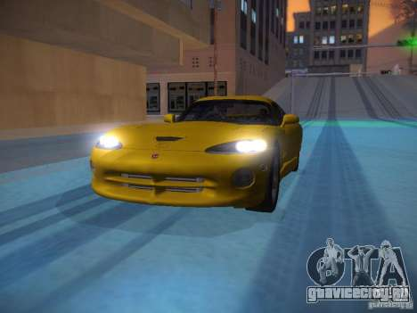 Dodge Viper 1996 для GTA San Andreas салон