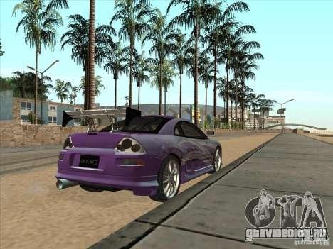 Mitsubishi Eclipse Spyder 2FAST2FURIOUS для GTA San Andreas вид сзади слева