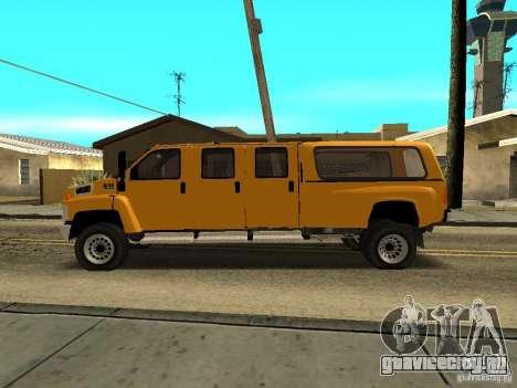 GMC TopKick для GTA San Andreas вид слева