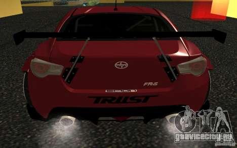 Scion FR-S для GTA San Andreas вид сзади слева