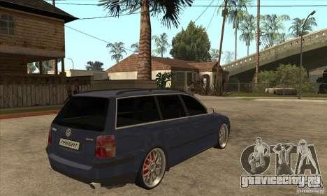 Volkswagen Passat B5.5 2.5TDI 4MOTION для GTA San Andreas вид справа