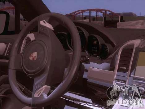 Porsche Cayenne Turbo 958 2011 V2.0 для GTA San Andreas вид изнутри