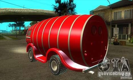 Beer Barrel Truck для GTA San Andreas вид сзади слева