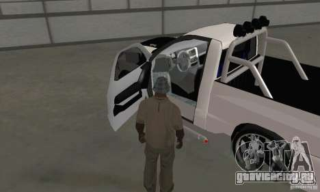 Dodge Ram SRT-10 Tuning для GTA San Andreas вид сзади