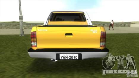 Toyota Hilux SRV 4x4 для GTA Vice City вид слева