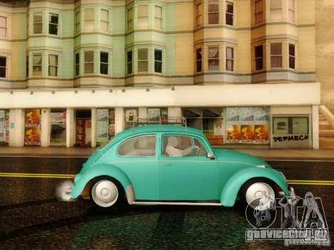 Volkswagen Beetle 1300 для GTA San Andreas вид сзади слева