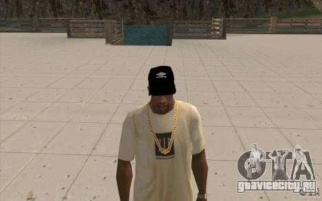 Кепка umbro black для GTA San Andreas второй скриншот