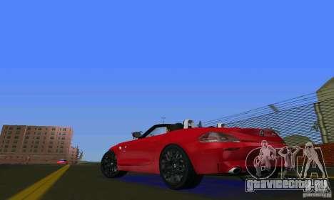 BMW Z4 V10 2011 для GTA Vice City вид сзади слева
