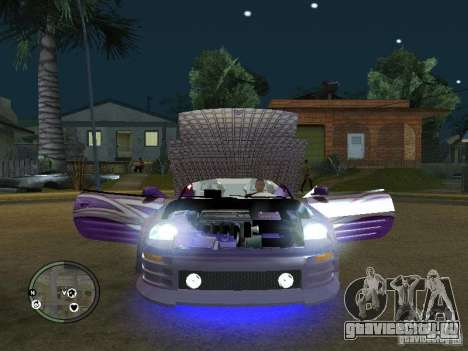Mitsubishi Spyder 2Fast2Furious Cabriolet для GTA San Andreas вид сзади