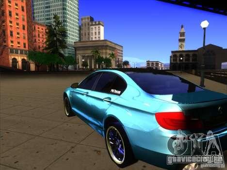 BMW 535i F10 для GTA San Andreas вид слева